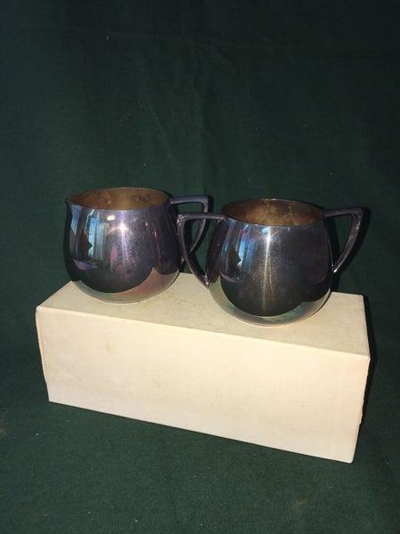 Silverplate creamer & sugar bowl