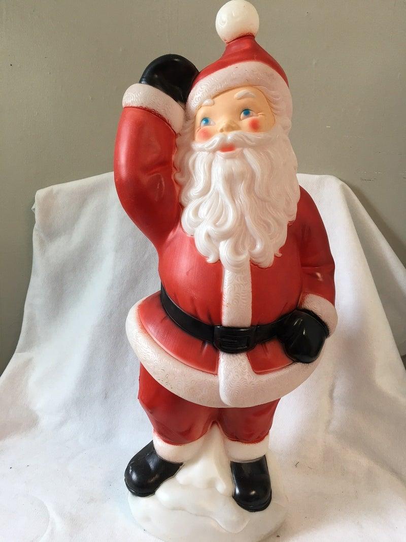 Large blow mold Santa, no cord, no shipping
