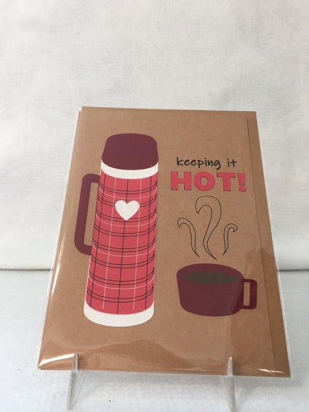 """""""Keeping it Hot"""" handmade card by Bibury Papers"""