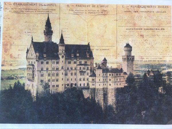 Decoupage Queen European Castle