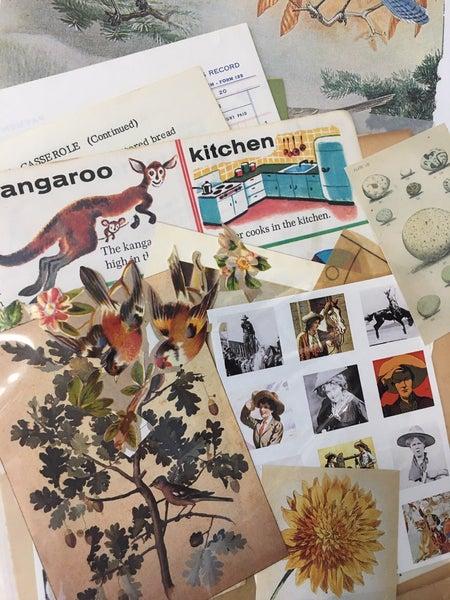 Vintage paper ephemera package, over 25 items