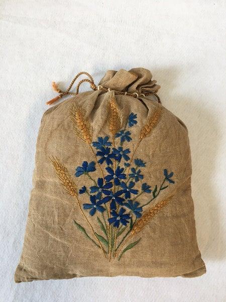 Vintage embroidered bag/pillow
