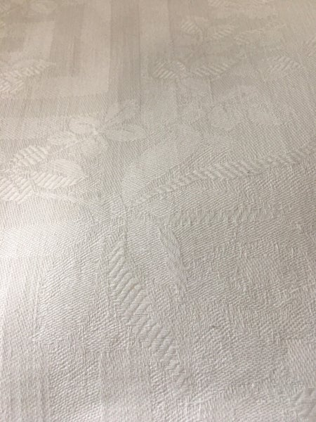 Rose damask cotton tablecloth