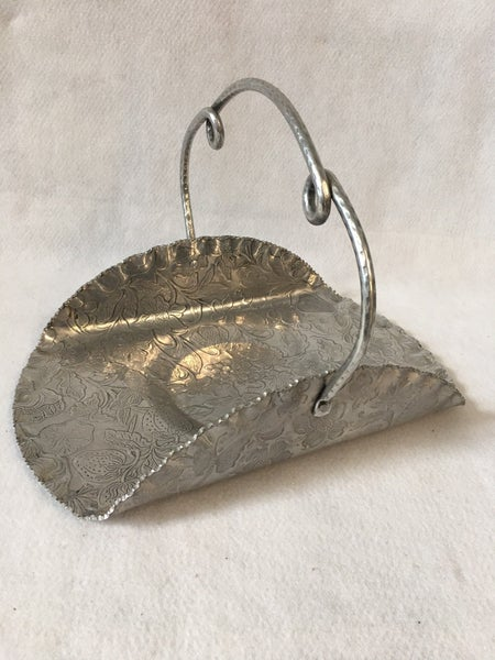 Hammered aluminum serving tray