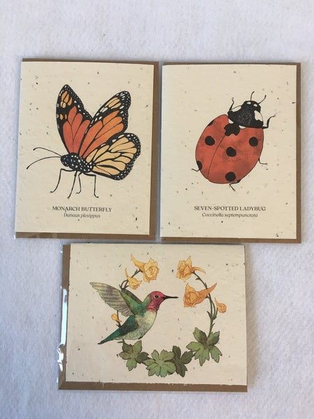 Trio of plantable seed cards