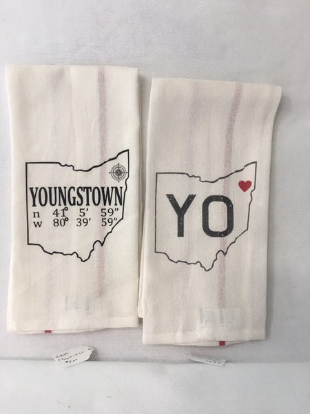 Pair of Youngstown kitchen towels