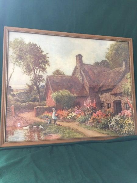 Vintage cottage print