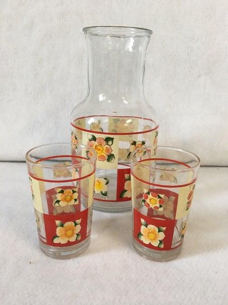 Vintage KIG juice pitcher & glasses