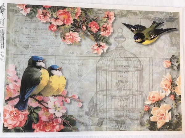 Decoupage Queen Chickadee  & Roses