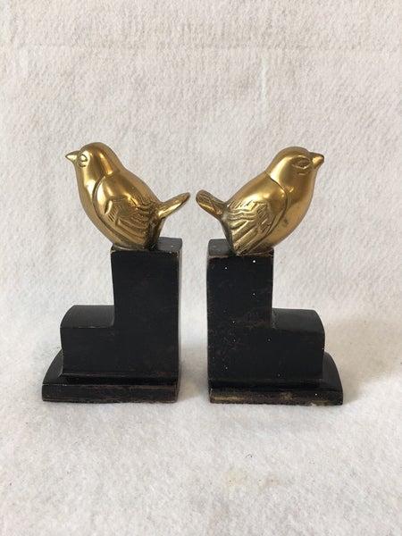 Pair of Vintage brass bird bookends