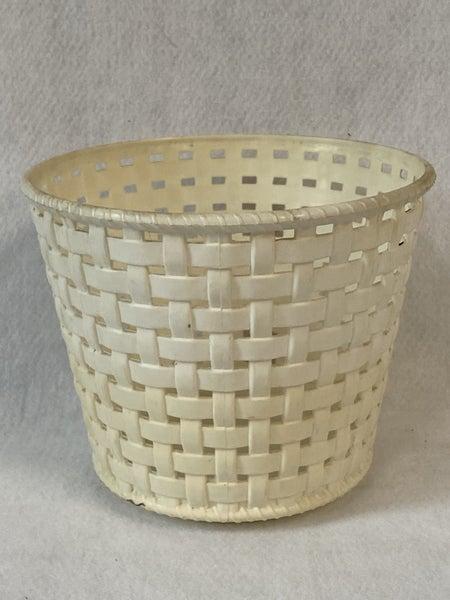 Vintage white plastic planter