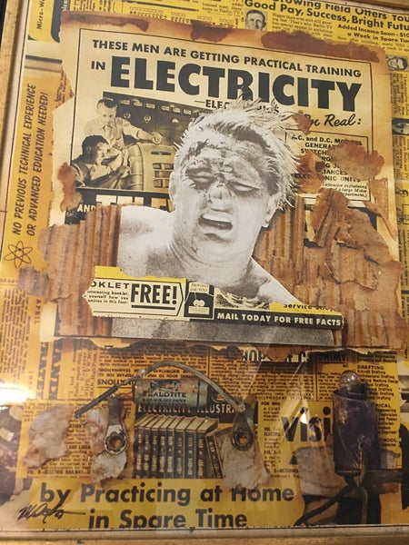 """""""Electricity"""" collage art poster (unframed)"""