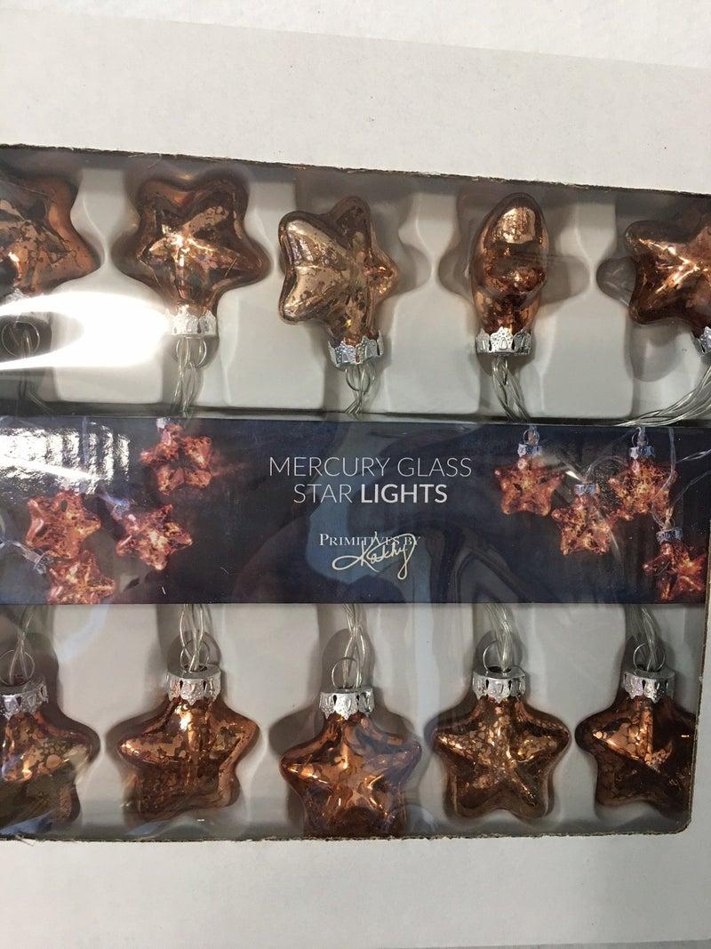 New mercury glass star lights