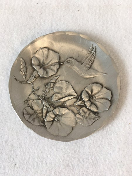 Wendell August Forge Morning Glory/hummingbird dish