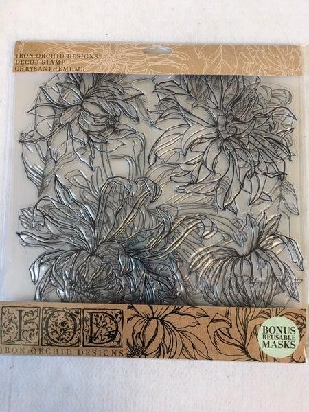"Iron Orchid Design ""Peonies"" stamp"