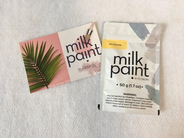 Milk paint sample