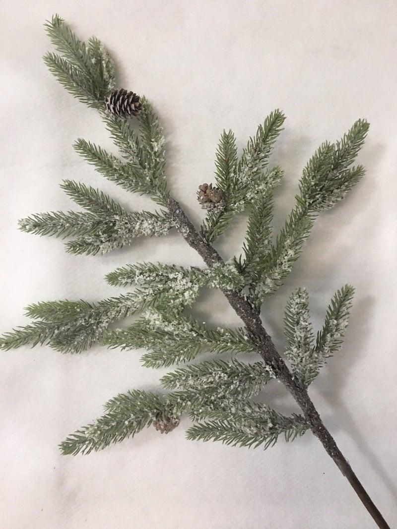 New pine stems w/glitter