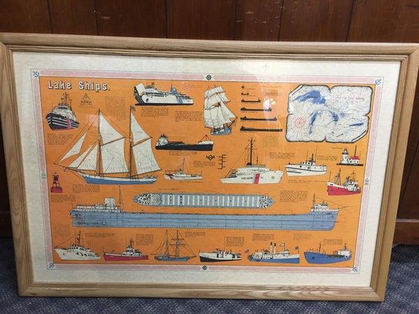 Lake Ships framed art