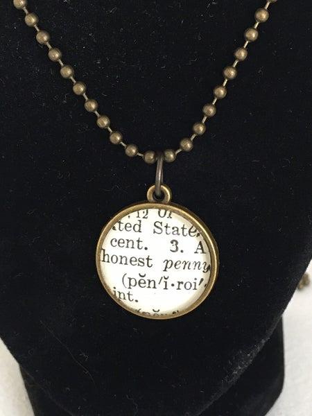 Lucky penny pendant
