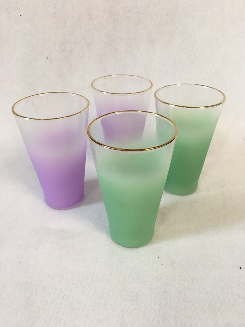 Vintage frosted glasses
