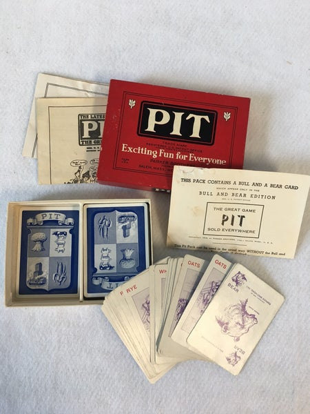 Vintage Pit game, Bull and Bear Edition