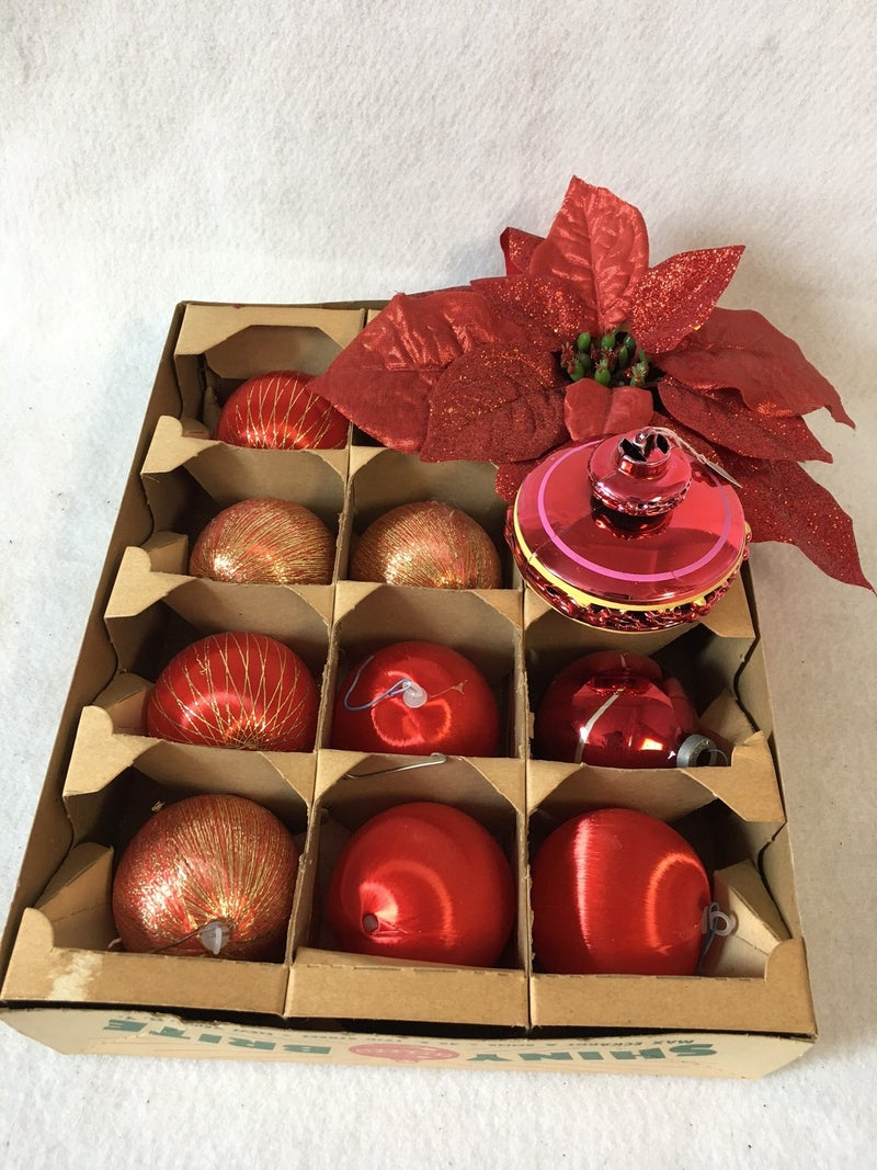 11 misc. red ornaments