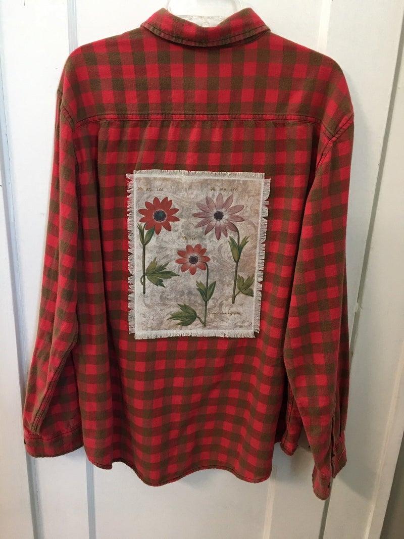 Vintage flannel shirt w/Monahan print
