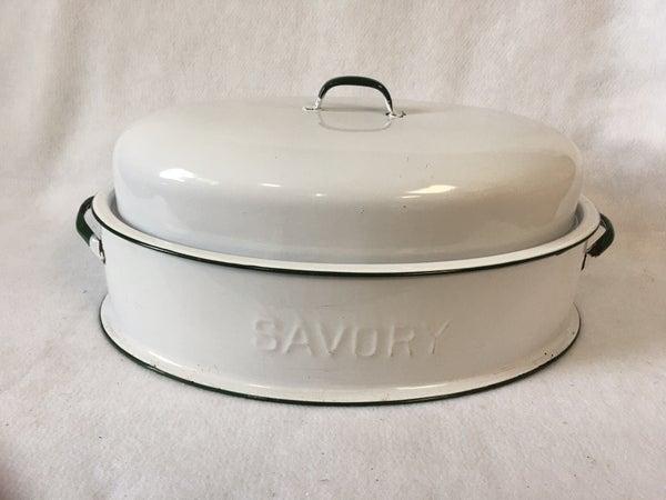 Vintage Savory double wall enamelware roaster
