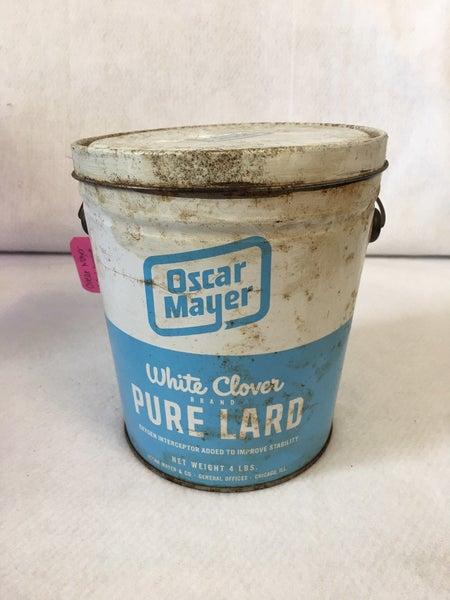Vintage Oscar Mayer lard bucket