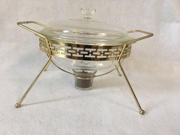 Vintage Pyrex chafing dish
