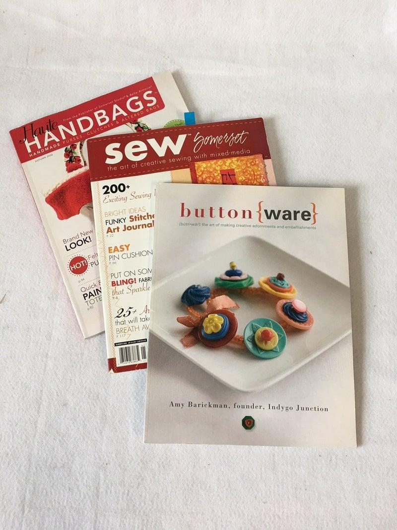 Trio of sewing magazines