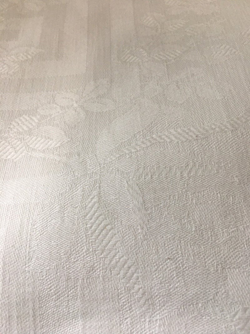 Vintage damask tablecloth with roses