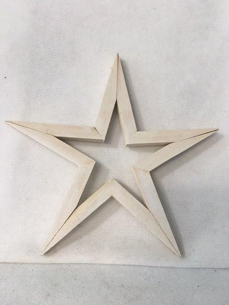 """White wooden star 12"""""""