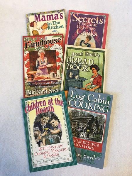 Set of 6 cookbooks by Barbara Swell