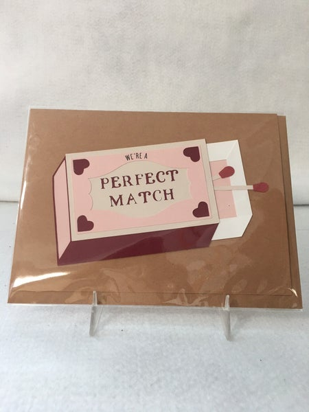 """""""Perfect Match"""" greeting card by Bibury Papers"""