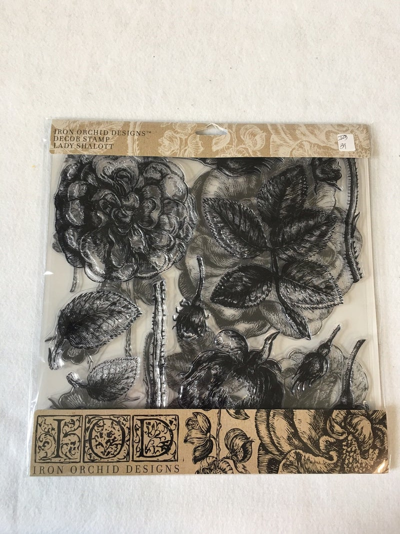 """Iron Orchid Design """"Lady Shallot"""" stamp"""