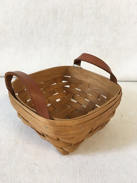 Small Longaberger basket with handles