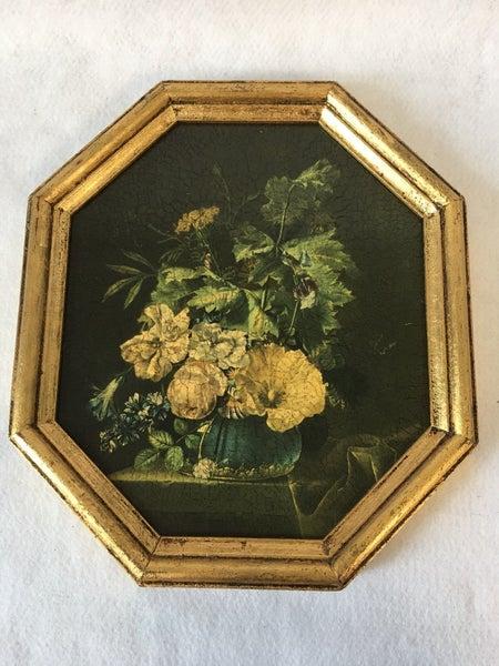 Italian wall art in gold frame