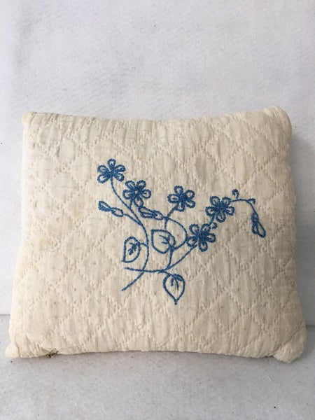 Small vintage embroidered pillow