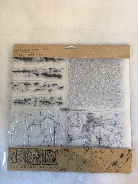 "Iron Orchid Design ""Vintage Textures"" stamp"