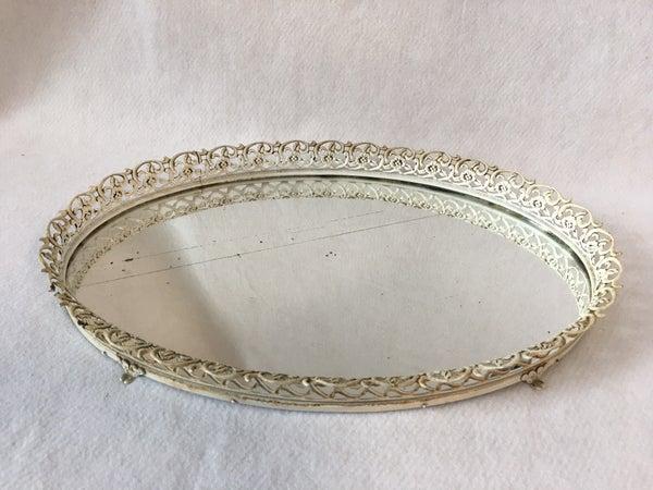 Vintage oval dresser tray