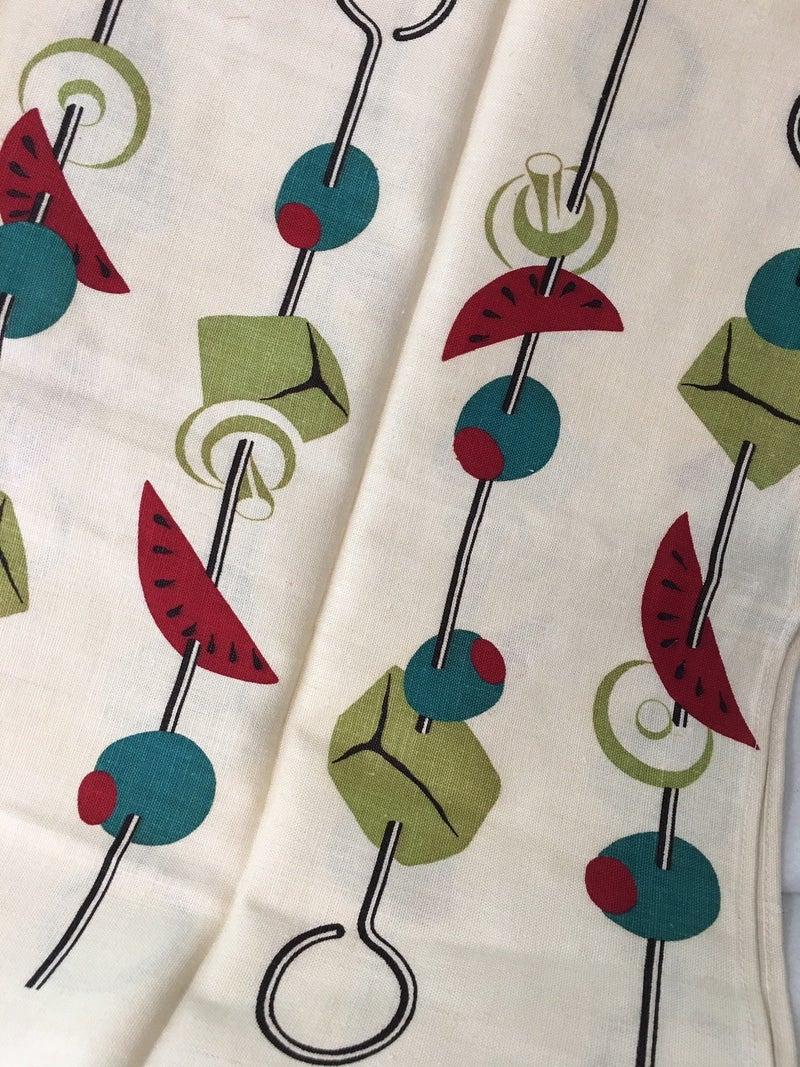 MCM Martex linen towel, green, blue & red
