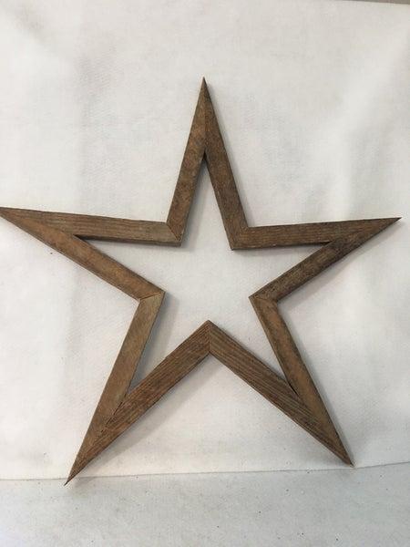 "Natural wooden star 20"""
