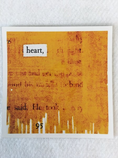 """""""Heart"""" 5"""" x 5"""" print by Fade into A Blackout"""