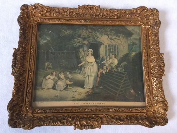 """Citizen's Retreat"" vintage framed artwork"