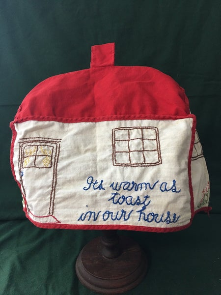 Embroidered vintage toaster cover