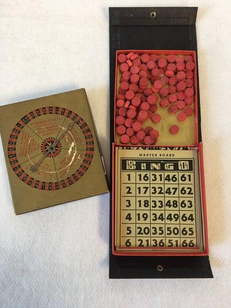 Vintage Pocket Bingo game