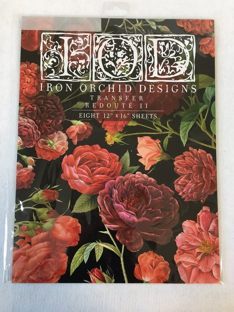 """Iron Orchid Design Redoute II"""" transfer"""