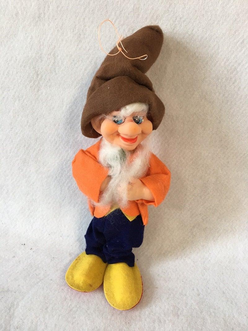 Large vintage elf, felt clothing