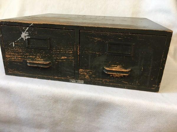 Globe Wernicke 2 drawer wooden card catalog